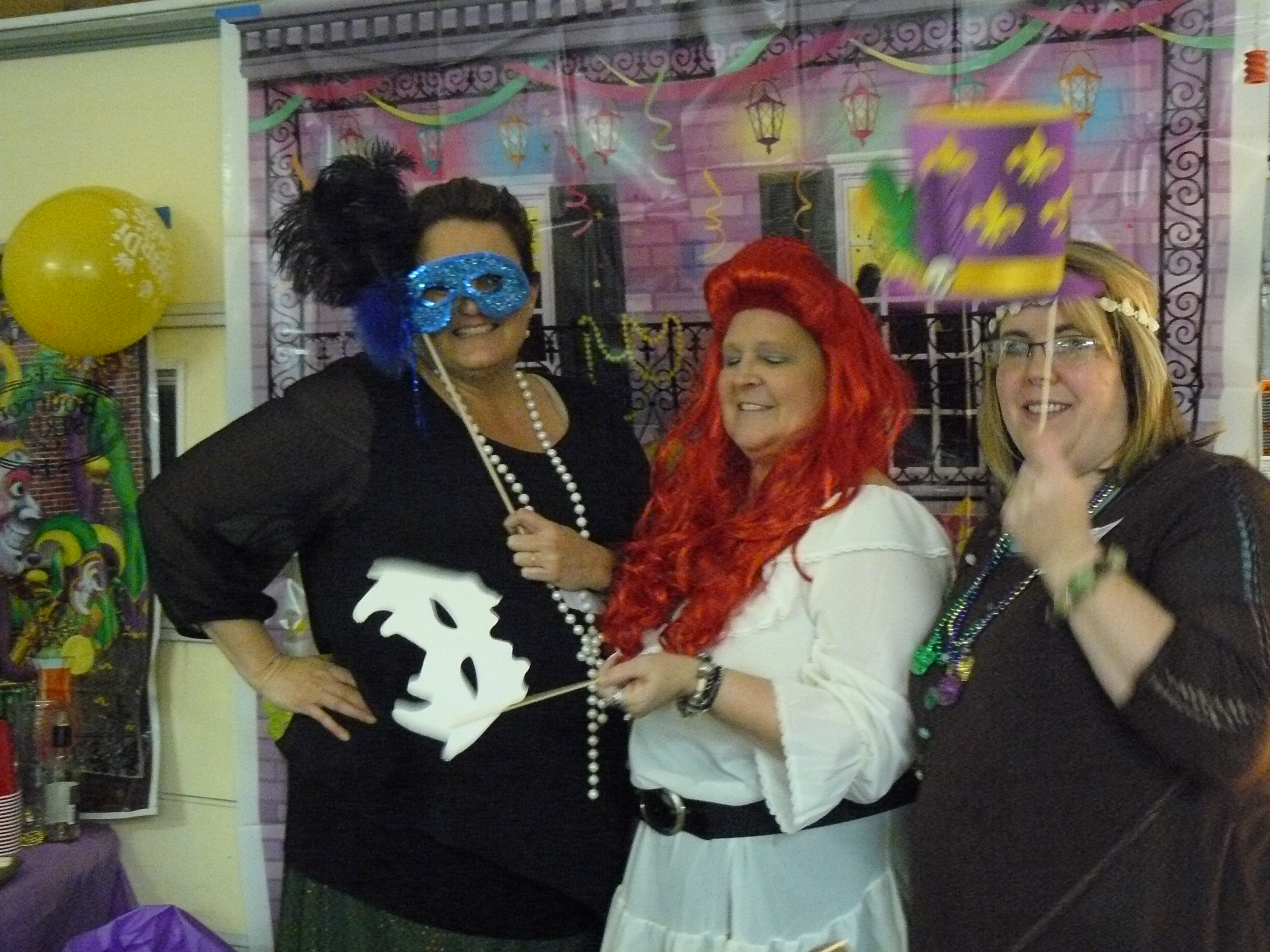 Mardi Gras Party Guests Go All Out for Murder Mystery Night