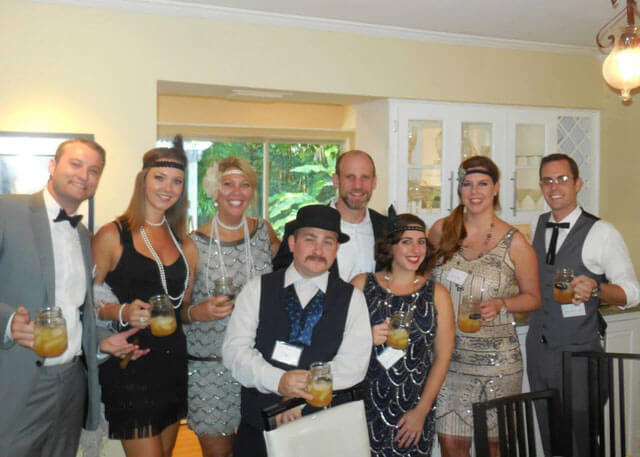 Playing with a small group. How to Host a Murder Mystery Party. #murdermysteryparty www.playingwithmurder.com