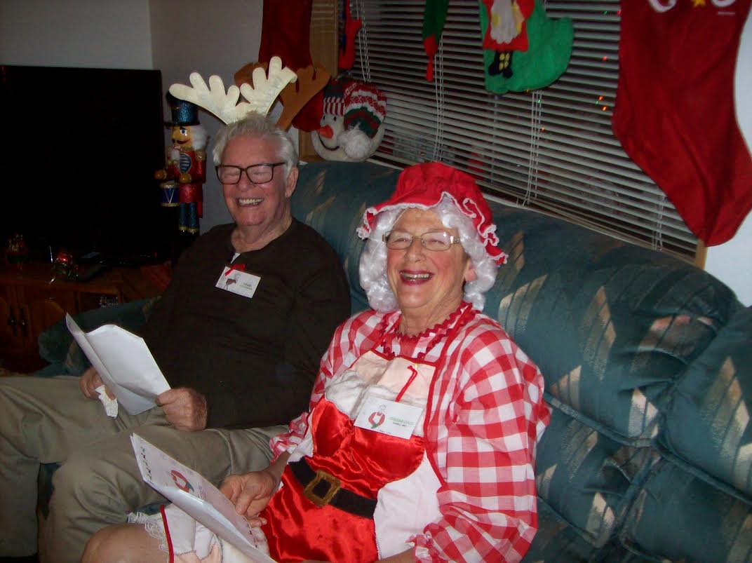 Ms. Claus and Reindeer