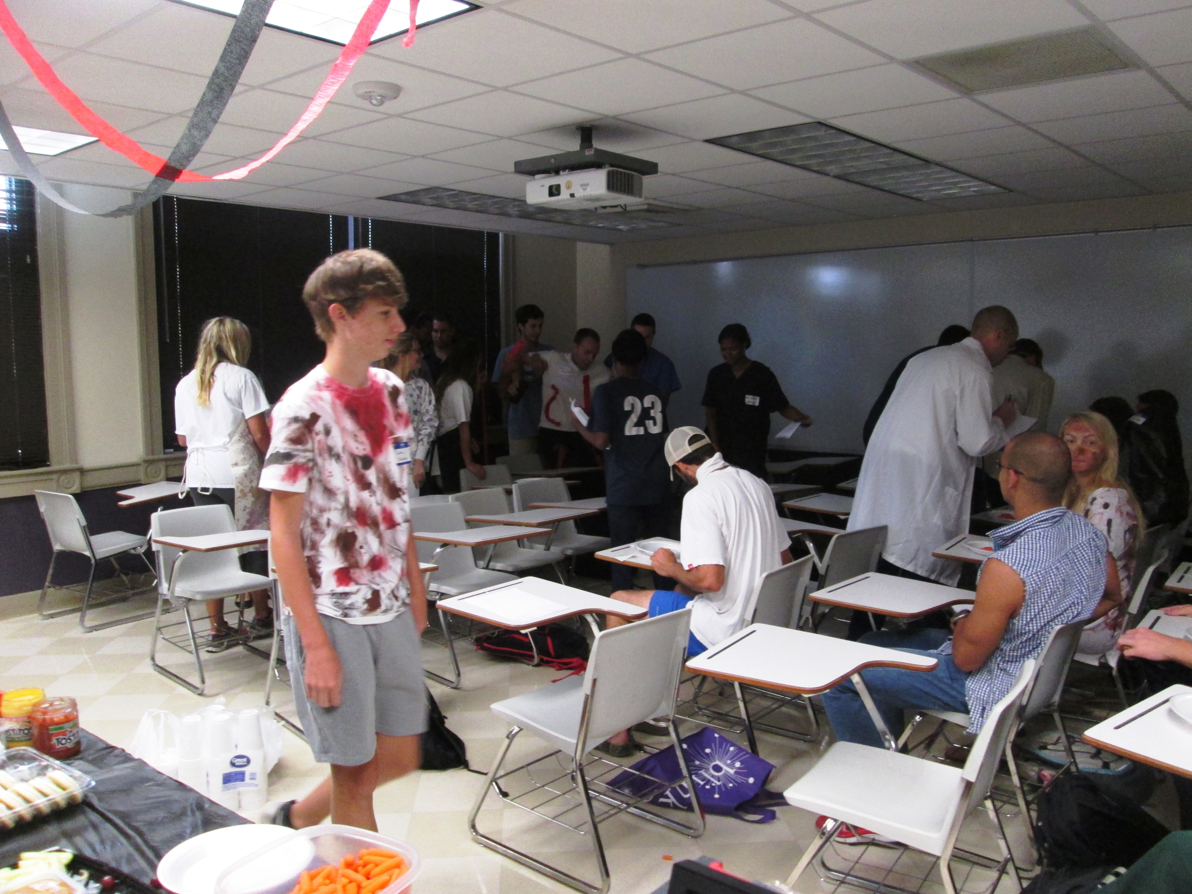 College class plays murder mystery party