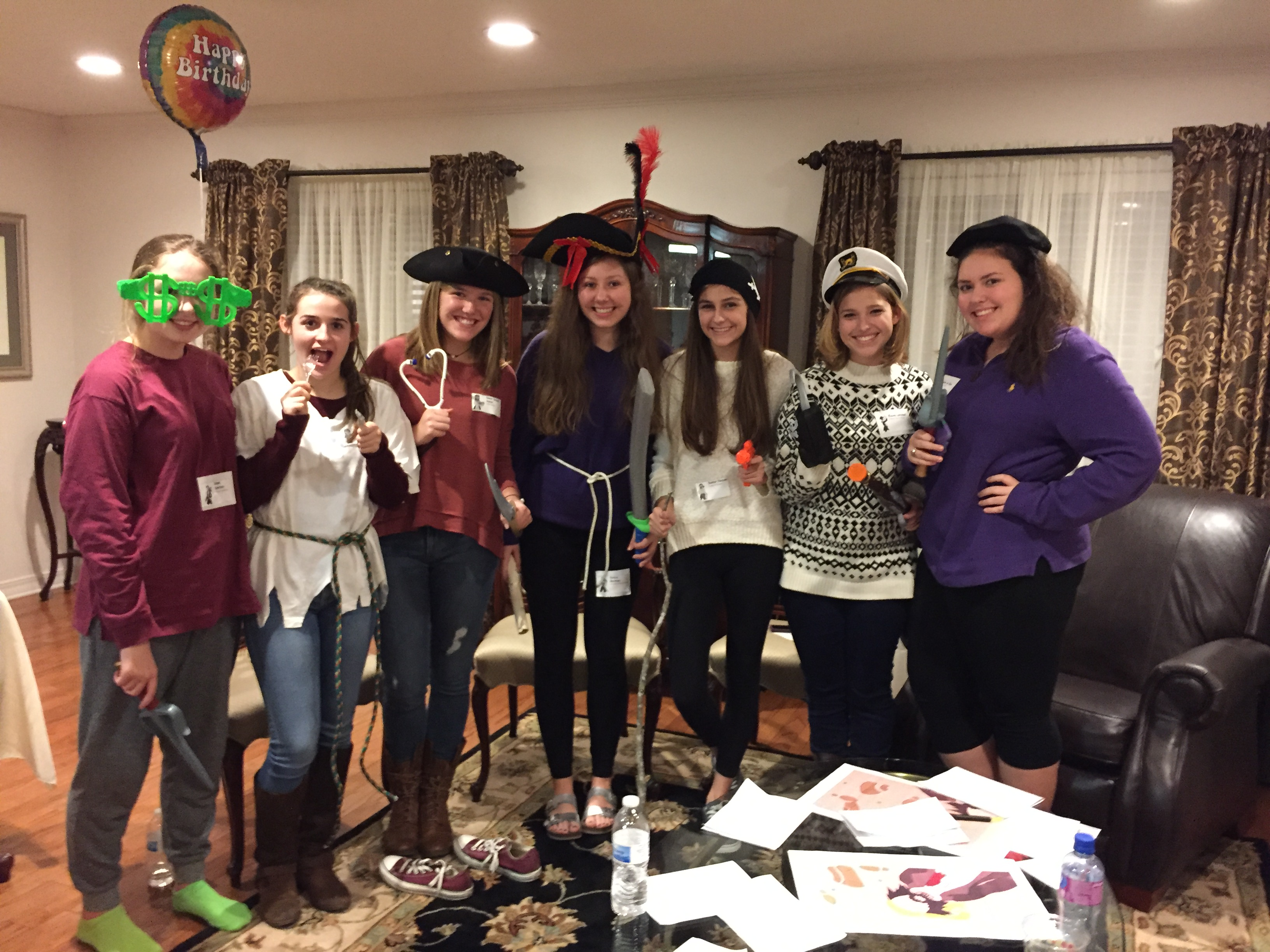Pirate-themed murder mystery teen birthday party